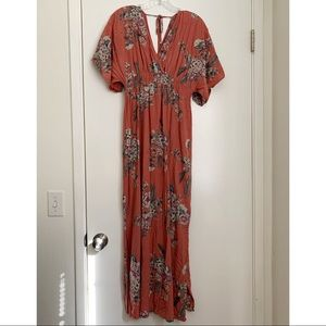 Jessica Simpson floral maxi maternity dress